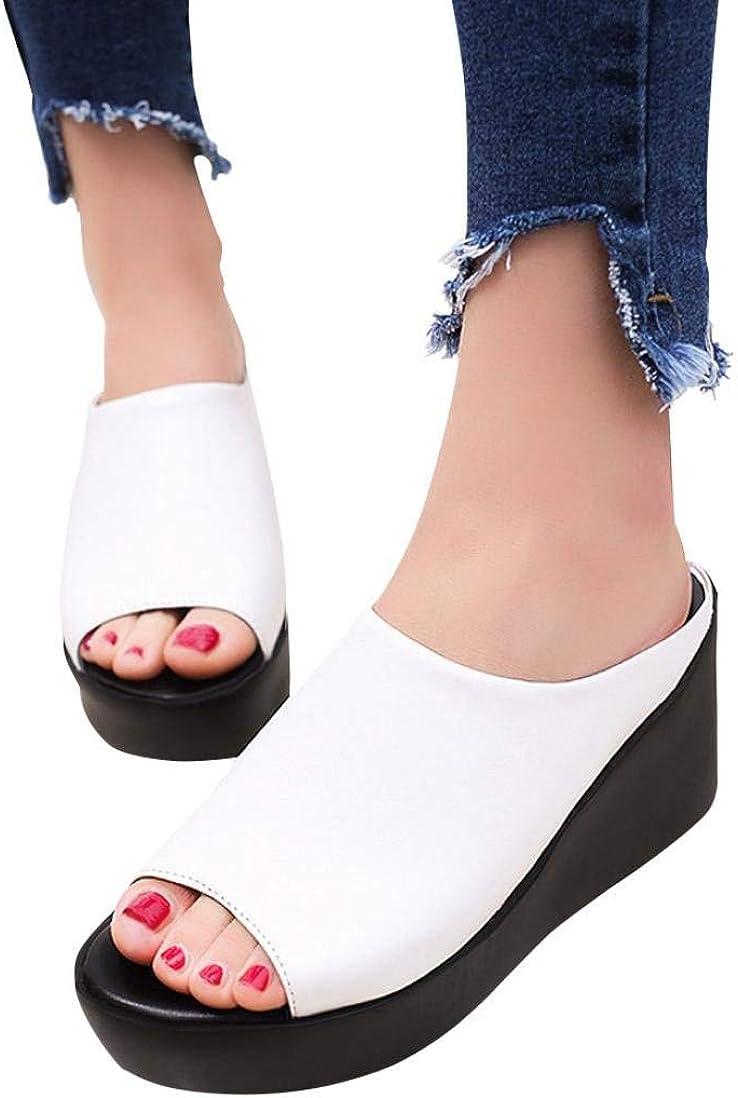 Womens Girls Open toe Flat Sports Platform Wedge Sandals Beach Walking Shoes New