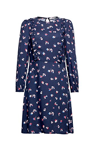 400 Navy ESPRIT edc Damen by Kleid Blau qXYBCR
