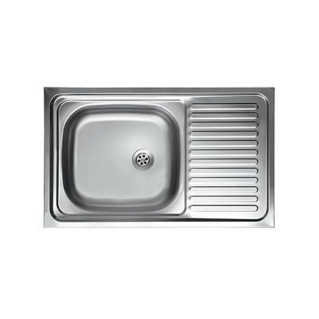 WEBMARKETPOINT Lavello Cucina Vasca con Gocciolatoio DX Acciaio da ...