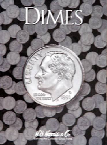 Plain Dime Coin Folder, no Dates by H.E. HARRIS