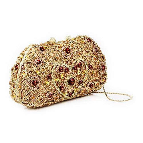 Prom for Cocktail Detailing Parties Bridal Gold Rhinestones Multi Clutch Designed Silver Special Multi Evening Womens Handbag Occasions Wedding x8qSwRCn