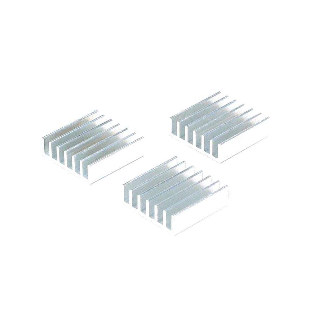Color: Silver DIYElectronic 10 pcs 20206mm Radiator Cooling Fin Aluminum Cooler Heatsink Heat Sink for LED IC MPU CPU GPU 20X20X6mm