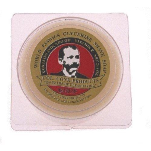 Col. Conk Bay Rum Shaving Soap 3.75 Ounce (Colonel Conk Almond)