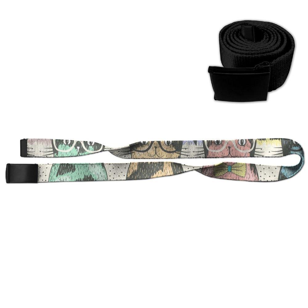 Cats Wear Glasses Unisex Casual Printing Belt