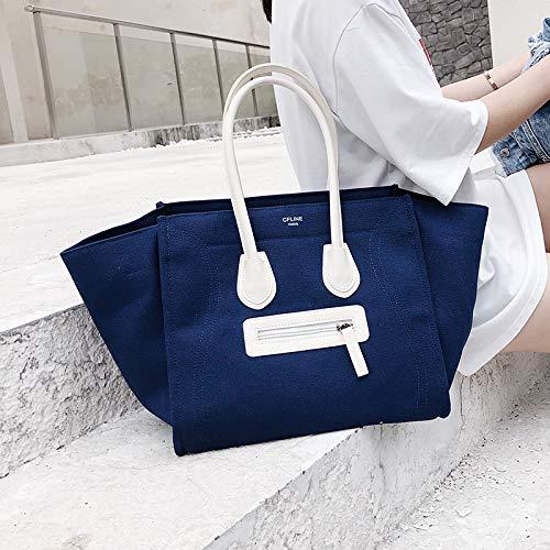 Super Bleu à à Sac Smiley marée Portable féerique WSLMHH Sac Grande provisions Mode Femme capacité Sac bandoulière Sac Sac wSRCXqxU