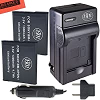 BM Premium 2-Pack of NP-BN1 Batteries and Battery Charger Kit For Sony CyberShot DSC-QX10, DSC-QX30, DSC-QX100, DSC-WX5, DSC-WX9, DSC-WX50, DSC-WX70, DSC-WX150, DSC-W330, DSC-W510, DSC-W530, DSC-W560, DSC-W570, DSC-W610, DSC-W620, DSC-W650, DSC-W690, DSC-W800, DSC-W830, DSC-TX10, DSC-TX20, DSC-TX30, DSC-TX66 Digital Camera