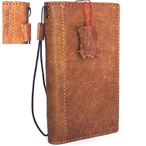 Genuine Real Leather Case for Samsung Galaxy Note 8 Book Wallet snap Cover Handmade Retro Luxury Cards Soft Slim Daviscase
