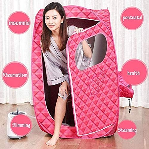 LONGLAN Saunas Portable Steam Tent Box Case Fast Fold Tent Spa Accessory 1000W//double Person Detox Weight Loss