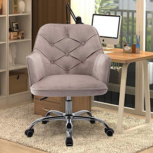 Best office desk chair: Goujxcy Velvet Desk Chair