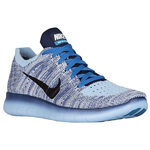 Nike FREE RN FLYKNIT (GS) girls running-shoes 834363-400_5.5Y - BLUECAP/MIDNIGHT NAVY-WHITE by NIKE