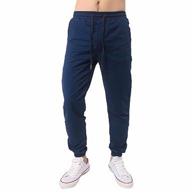 Hombre Pantalón Deportivo Otoño/Invierno Pantalones Suelto Casuales Jogger Hip Hop Estilo Urbano Chándal de Hombres con Cinturón Elástico Regular-Fit: ...