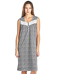 Casual Nights Women's Fancy Lace Trim Sleeveless Nightgown