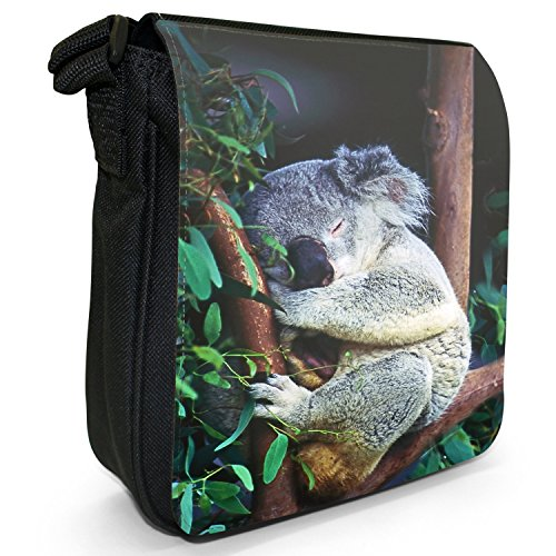 Fancy Zusammengerollt amp; Femme Schlafend Fest Sac A Koala Pour Snuggle Bandoulière RPqa08rR