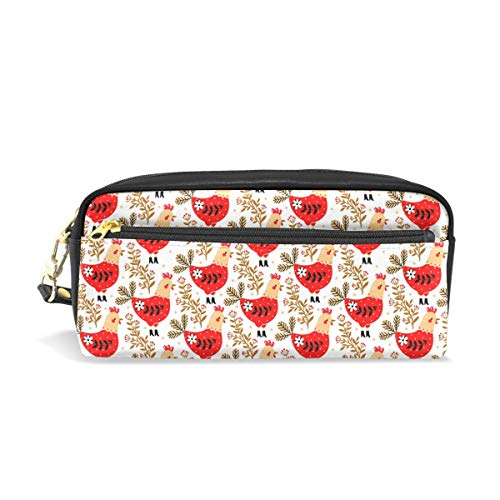 Red Funny Garden RoosterConvenient small cosmetic bag, stylish casual style, suitable for all occasions, travel essentials. -
