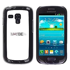 EJOY---Cubierta de la caja de protección la piel dura para el ** Samsung Galaxy S3 MINI 8190 ** --Tal vez - Tipografía