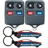 KeylessOption Keyless Entry Remote Control Car Key Fob Replacement for CWTWB1U343, CWTWB1U313 (Pack of 2)