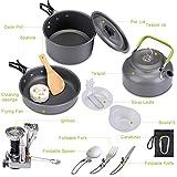 G4Free Camping Cookware Mess Kit Lightweight Pot