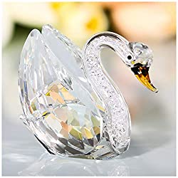Crystal Swan Figurine with Rhinestones
