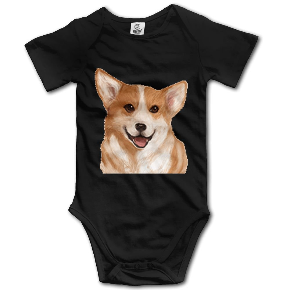 Rainbowhug Corgi Dog Unisex Baby Onesie Cartoon Newborn Clothes Funny Baby Outfits Comfortable Baby Clothes