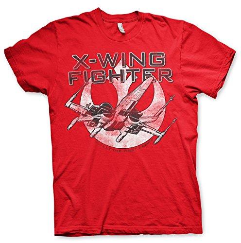 Offizielles Lizenzprodukt X-Wing Fighter T-Shirt (Rot)