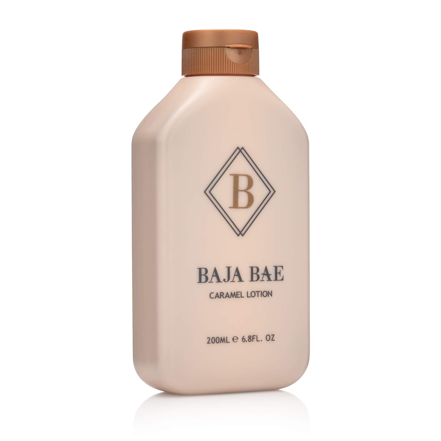 BAJA BAE Bronze Tanning Lotion for Indoor Tanning Beds - 3 in 1 Sunless Tanning Lotion, Tinted Moisturizer and Highlighting Face Tanner - Caramel Scent, 200ml