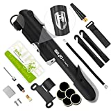 ON THE WAY Premium Mini Bike Pump Portable Bicycle Frame Pump,Bicycle Tire Pump Glueless Puncture Repair Kit,120 PSI Fast Air Pump Suitable for Presta & Schrader Valve