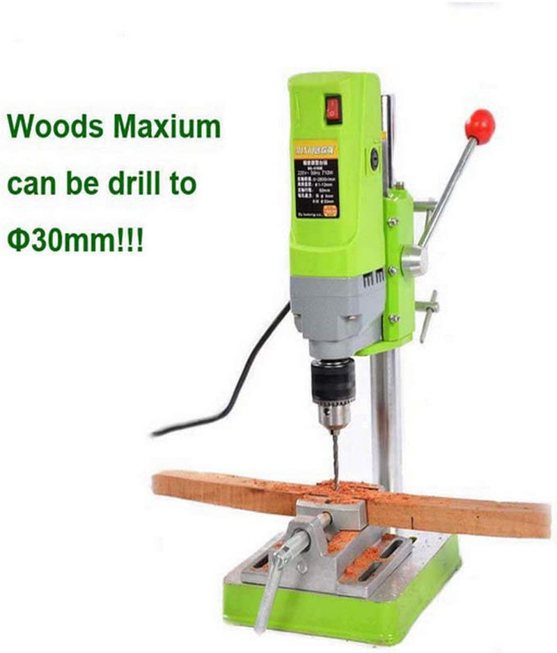 MINIQ Bench Drill Stand 710W Mini Electric Bench Drilling Machine Drill Chuck 1-13mm