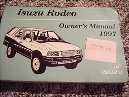 1997 isuzu rodeo owners manual isuzu amazon books fandeluxe Images