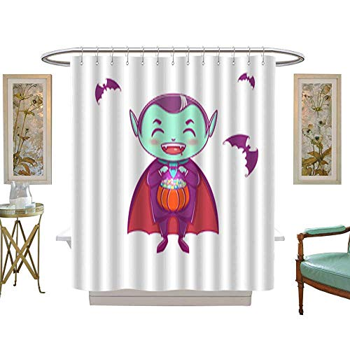 Iuvolux Shower Curtain CollectionHalloween Little Vampire Dracula Boy