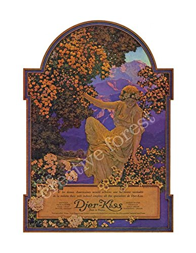Djer Kiss - Djer Kiss, 1921 Vintage French Cosmetic Advertising Poster Reproduction Canvas Print 24x31 in.