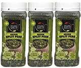 Natural Earth Green Split Peas - Certified Kosher- Good Source Of Protein - Resealable Container - 16 Oz (Pack of 3)