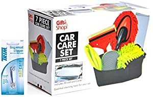 Interior Exterior Car Care Cleaning Gift Set Kit Supplies Cloth Duster Windshield Cover Window Cleaner for Men Teens Husbands