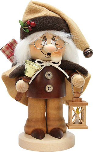 German Incense Smoker Christmas-Gnome - 26,5cm / 10.4inch - Christian Ulbricht by Authentic German Erzgebirge Handcraft