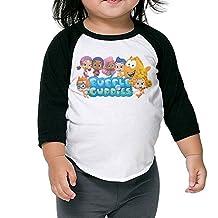 Bubble Guppies Logo Raglan T Shirt Toddler Cotton 3/4sleeve Kid Lovely