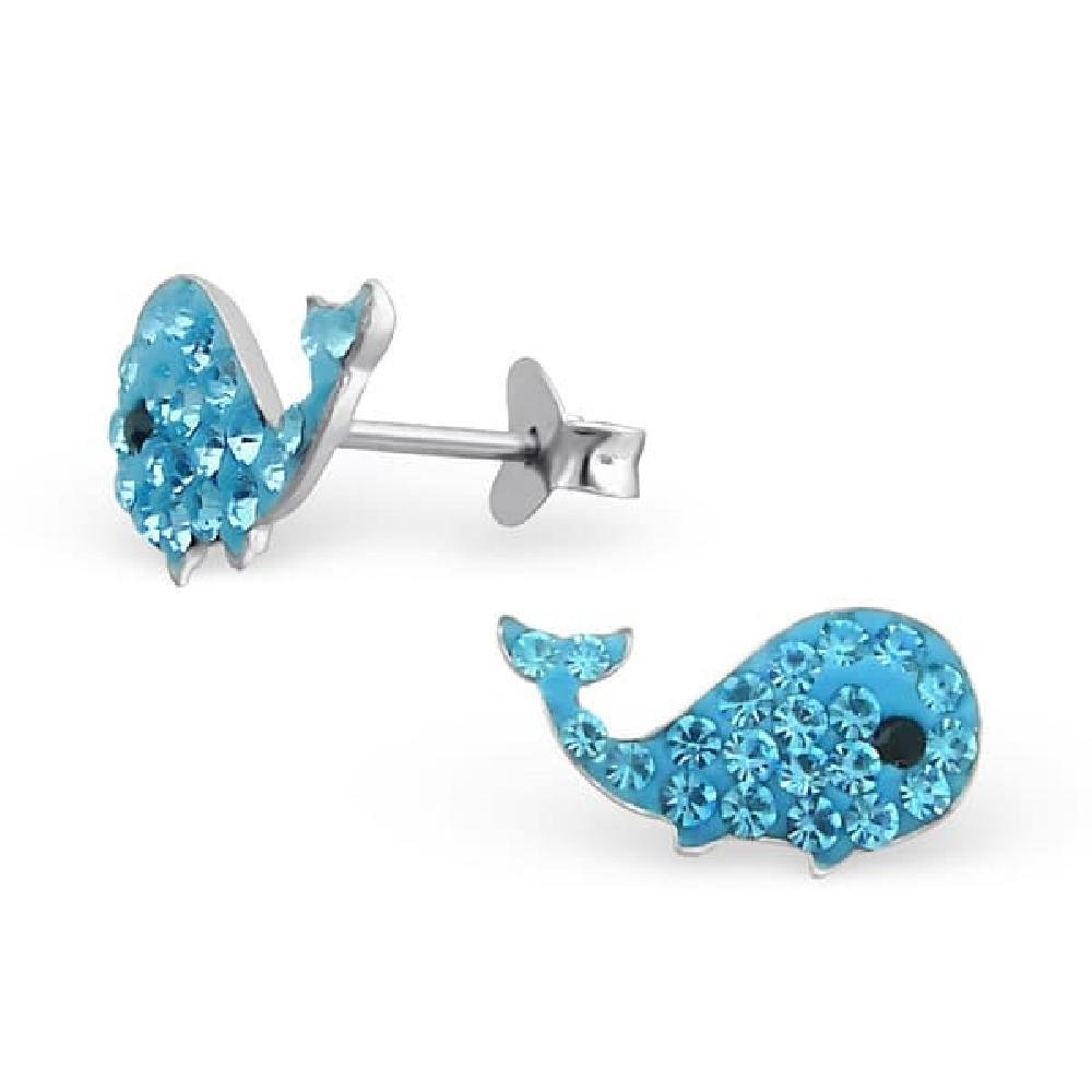 925 Sterling Silver Whale Earrings So Chic Jewels