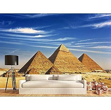 Weaeo Benutzerdefinierte Foto 3D Tapete Non Woven Wandbild Die Pyramiden  Von Ägypten Dekoration Malerei 3D