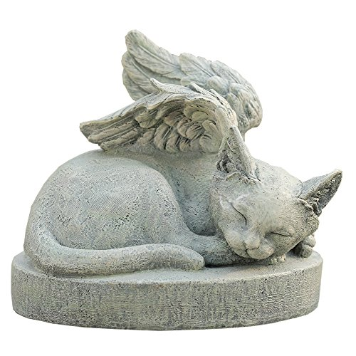 (Sympathy Cat - Cat Angel Pet Memorial Stone)
