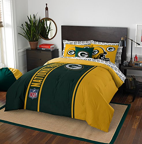 NFL Green Bay Packers Soft & Cozy Full Comforter Set (7 Piece), 76
