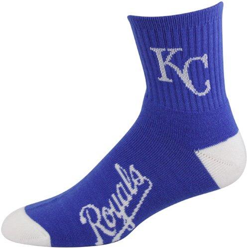 Bare Feet Clothing Store - For Bare Feet MLB Kansas City Royals Men's Team Quarter Socks, Large