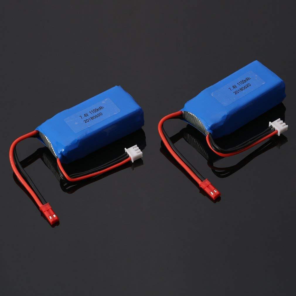 73JohnPol 2pcs 7.4 V 1100 mAh 25C 2 S Lipo Battery JST Plug Ricaricabile per Wltoys A949 A959 A969 A979 RC Auto Aereo Drone