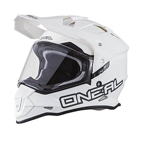 2018 ONEAL Sierra II Slingshot Flat White Adventure Helmet. Size XL (61-62 (Domain 2 Helmet)