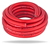 Automotive Battery Cable Best Deals - InstallGear 1/0 Gauge Ga Awg Red 25ft Power/Ground Cable True Spec and Soft Touch Wire