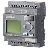 Siemens 6ED1 052-1MD00-0BA6 LOGO! 12/24RC,LOGIC MOD.,DISPL. PU/I/O: 12/24V DC/RELAY, 8 DI (4AI)/4 DO; MEM 200 BLOCKS EXPANDABLE WITH EXTRA MODULES