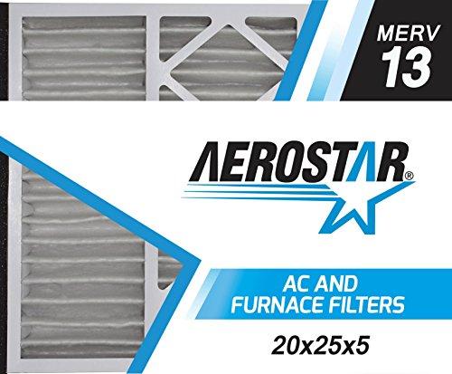 Aerostar 20x26x5 MERV 13, Lennox Replacement Pleated Air Filter, 20x26x5, Box of 2