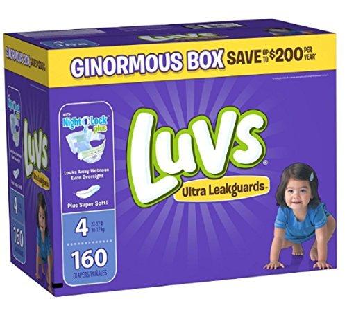 Luvs Ultra Leakguards Nightlock Plus locks Super Soft Baby