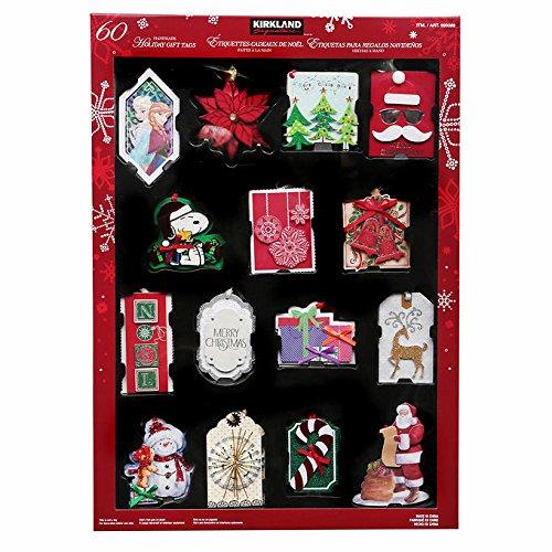 [해외]커클랜드 서명 수제 휴일 선물 꼬리표 (60 조사) - 휴일 동안 완벽하십시오!/Kirkland Signature Handmade Holiday Gift Tags (60 Count) - Perfect for the Holidays!