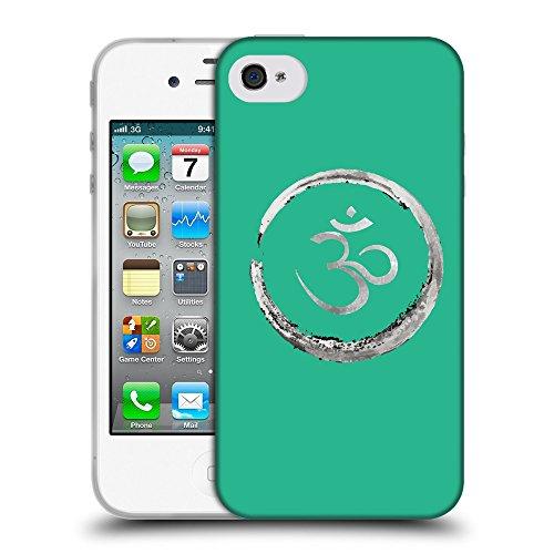 GoGoMobile Coque de Protection TPU Silicone Case pour // Q09170626 Bouddha 35 Caraïbes Vert // Apple iPhone 4 4S 4G