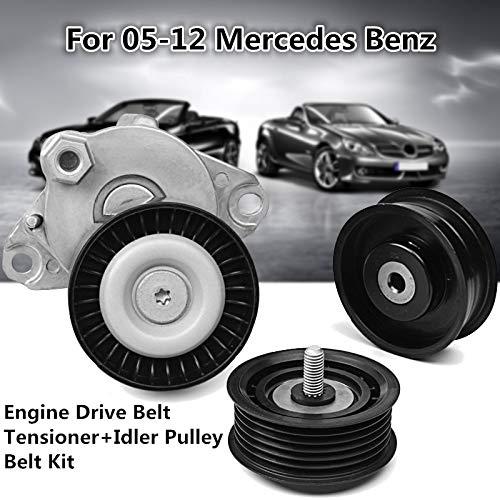 (Kavas - Engine Drive Belt Tensioner Idler Pulley Belt Kit 2005-2012 For Mercedes For Benz 272 202 10 19 05 272 200 02 70 272 202 1419)