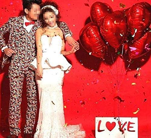 ハート型風船 アルミ バルーン 10個 セット 結婚式 二次会 子供会 文化祭 パーティー イベント に!