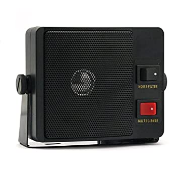 SainSonic ES-606 Portable External CB Speaker With Noise